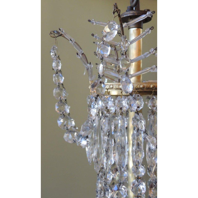 Bronze Early 20th C French Bronze and Crystal Chandelier For Sale - Image 7 of 8