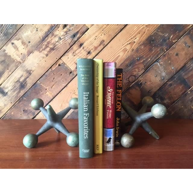 Vintage Brass Jacks Bookends - A Pair - Image 4 of 4