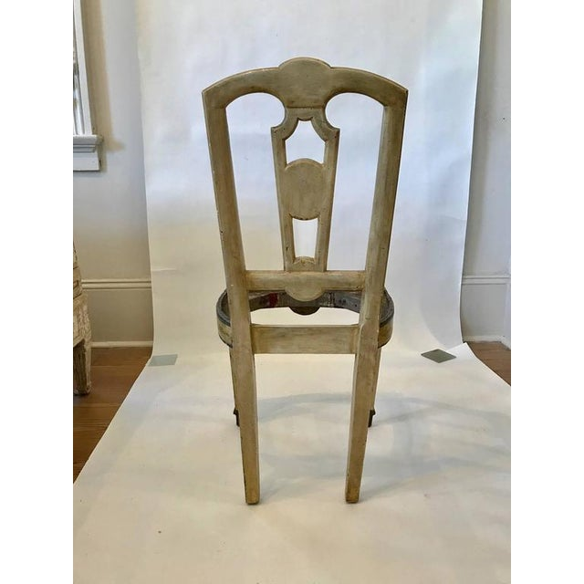 Four 18th Century Italian Painted Side Chairs For Sale - Image 4 of 9