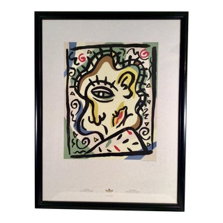 1989 Cubist Pantone Art Lithograph by Charles S. Anderson Design For Sale