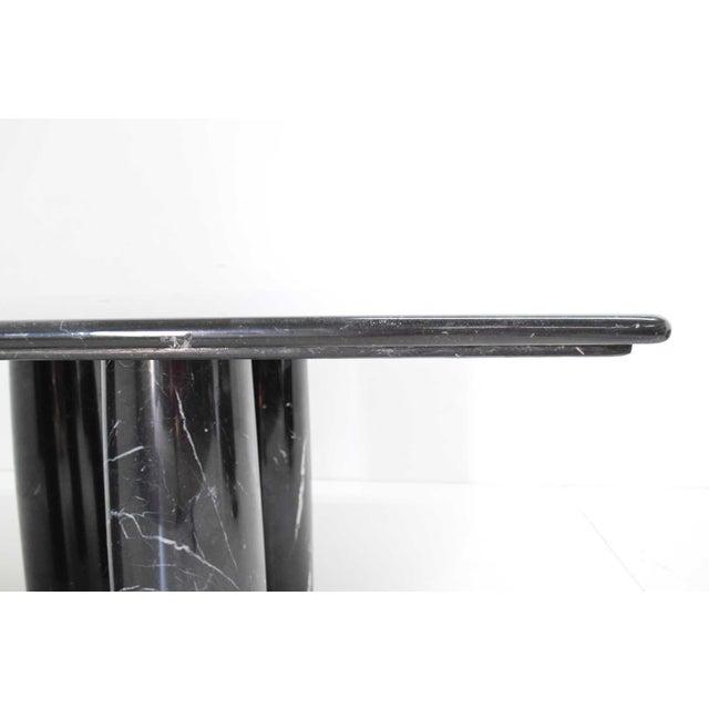 Mario Bellini Il Colonnato Black Marble Table For Sale - Image 10 of 13
