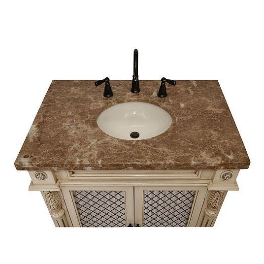 Classico Beige Bath Vanity with Cabinet - Image 6 of 6