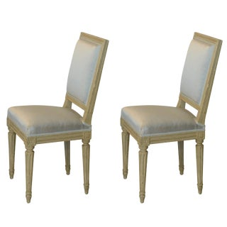 1920s Vintage Louis XVI Style Armand-Albert Rateau Side Chairs- a Pair For Sale