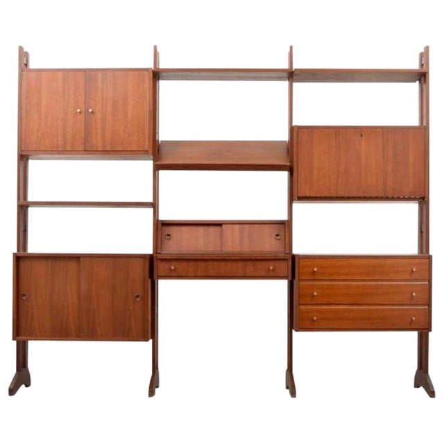 Shelving Unit and Desk by Poul Cadovius, Denmark, 1965 For Sale