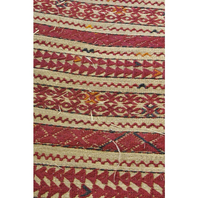 "Vintage Moroccan Wool Straw Rug - 6'6"" x 8'10"" - Image 3 of 4"
