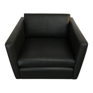 I950's Charles Pfister Club Leather Club Chair For Sale