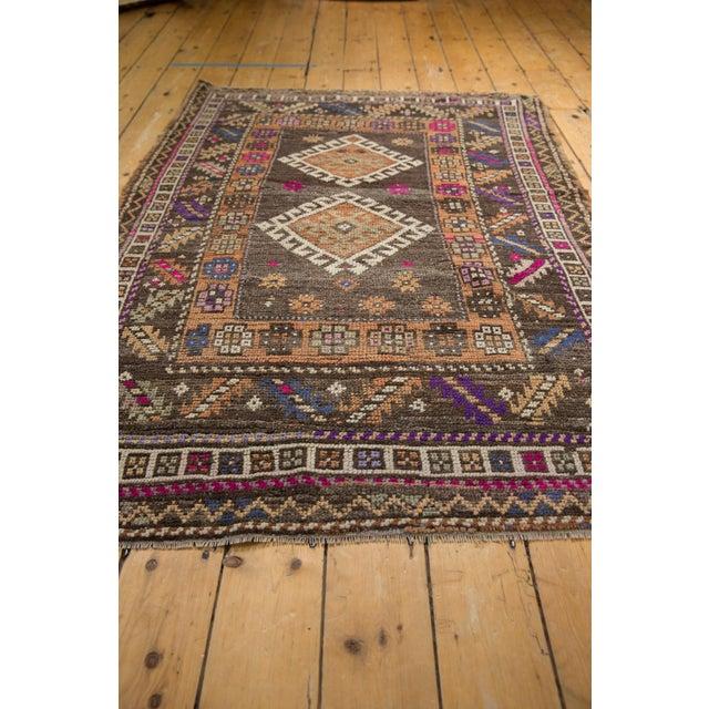 "Textile Vintage Distressed Oushak Rug - 4'1"" X 6'2"" For Sale - Image 7 of 10"