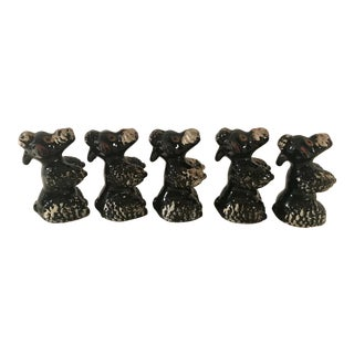 Black Poodle Shakers - Set of 5