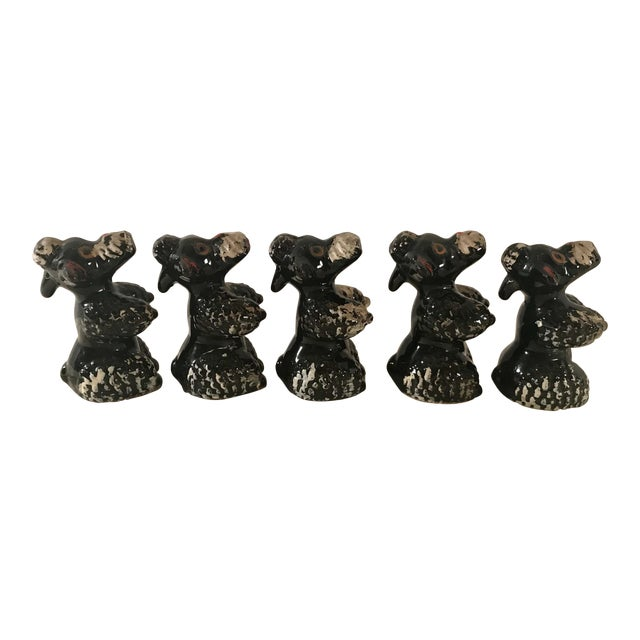 Black Poodle Shakers - Set of 5 For Sale