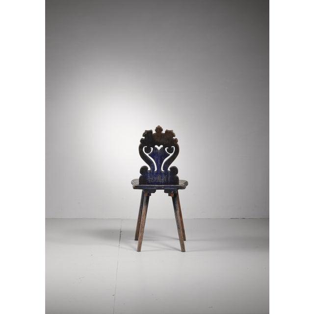 Swedish folk art chair, 19th century For Sale - Image 4 of 5