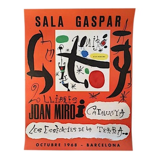 "Joan Miro ""Sala Gaspar"" Spanish Exhibition Poster - 1968 Barcelona For Sale"