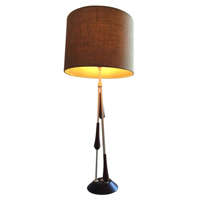 Vintage Mid Century Danish Teak Lamp - Image 1 of 10