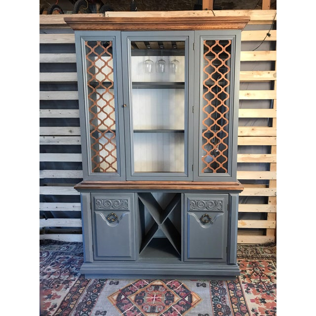 Gray Chalk Painted Wine Cabinet - Image 8 of 8