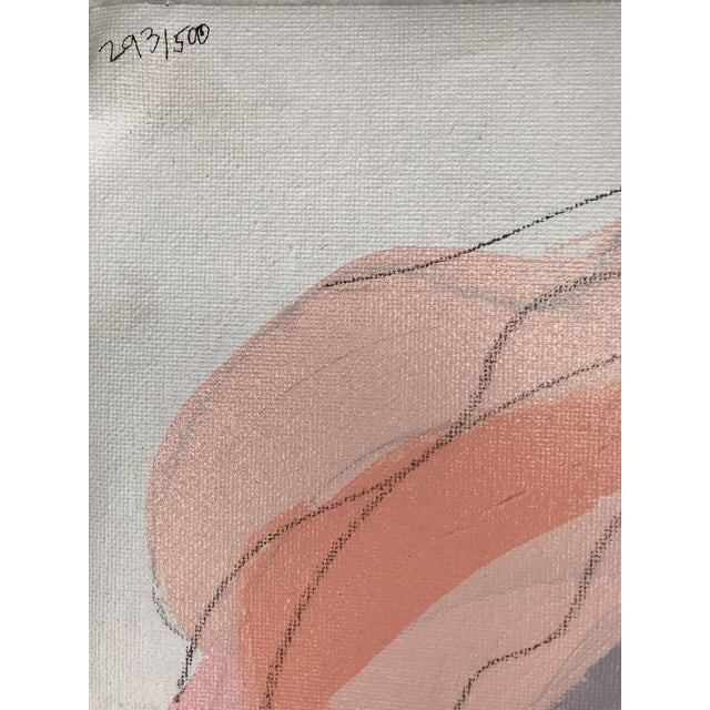 """Acrylic Paint Contemporary Abstract Portrait Painting """"Don't Let Her Get Away"""" - Framed For Sale - Image 7 of 9"""
