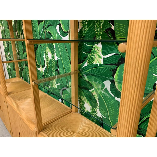 Split Reed Rattan Wall Unit in the Manner of Gabriella Crespi For Sale - Image 6 of 13