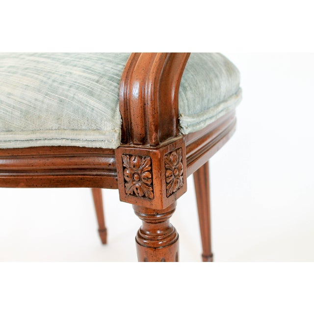 Blue Oval-Back Fauteuil For Sale - Image 8 of 12