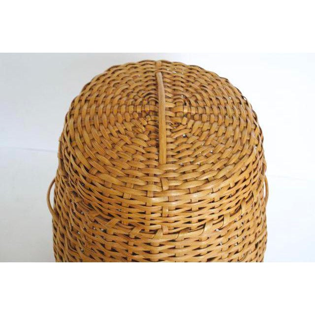 Large Rattan Standing Basket - Image 5 of 5