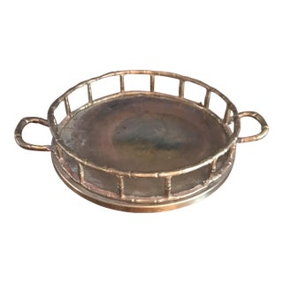 Small Brass Bamboo Tray