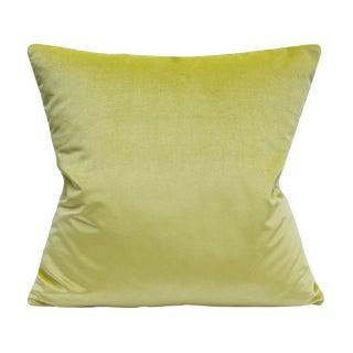 Schumacher Lime Shimmer Velvet Pillow Cover For Sale
