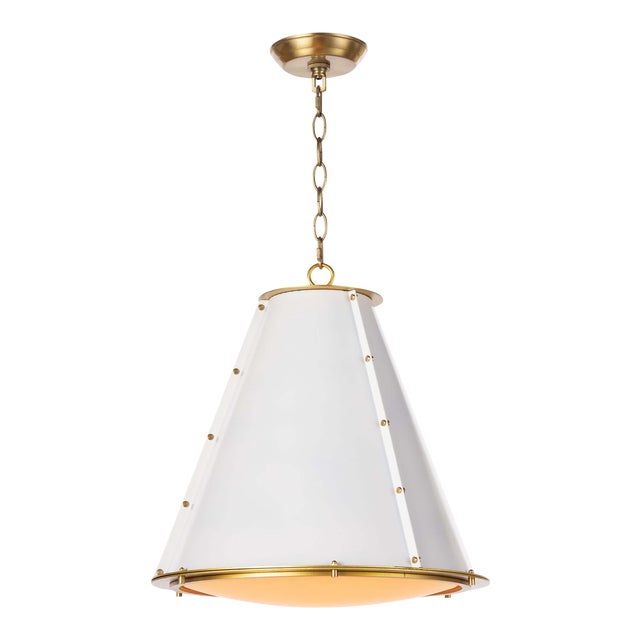 French Maid Chandelier Small in White For Sale