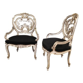 Louis XIV Pair of Signed Maison Jansen Arm Chairs For Sale