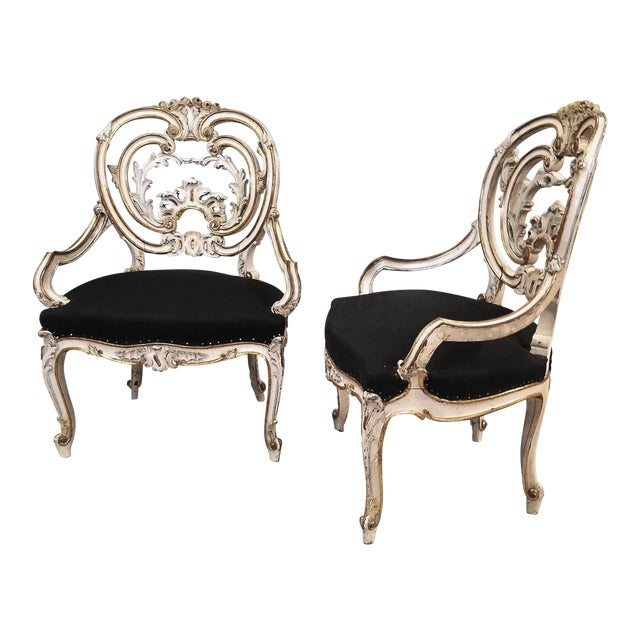 Pair of Late 19th Century Louis XIV Style Signed Maison Jansen Arm Chairs For Sale