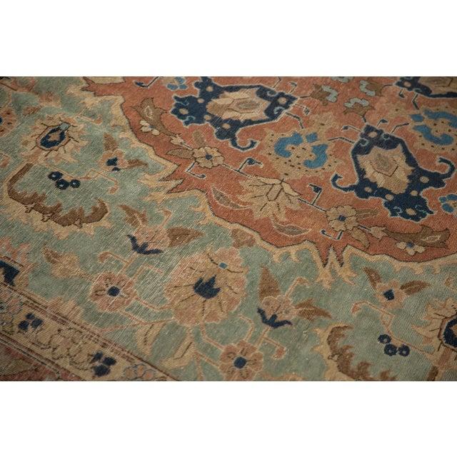 "Old New House Vintage Distressed Tabriz Carpet - 8'5"" X 10'7"" For Sale - Image 4 of 12"
