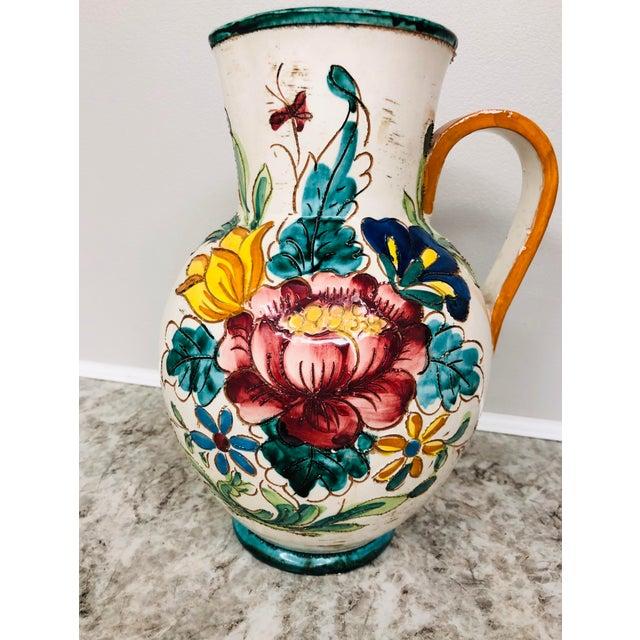 Vintage Italian Signed Water Pitcher Vase | Chairish