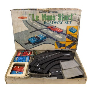 Vintage Louis Marx & Co. Le Mans Start Roadway Set For Sale