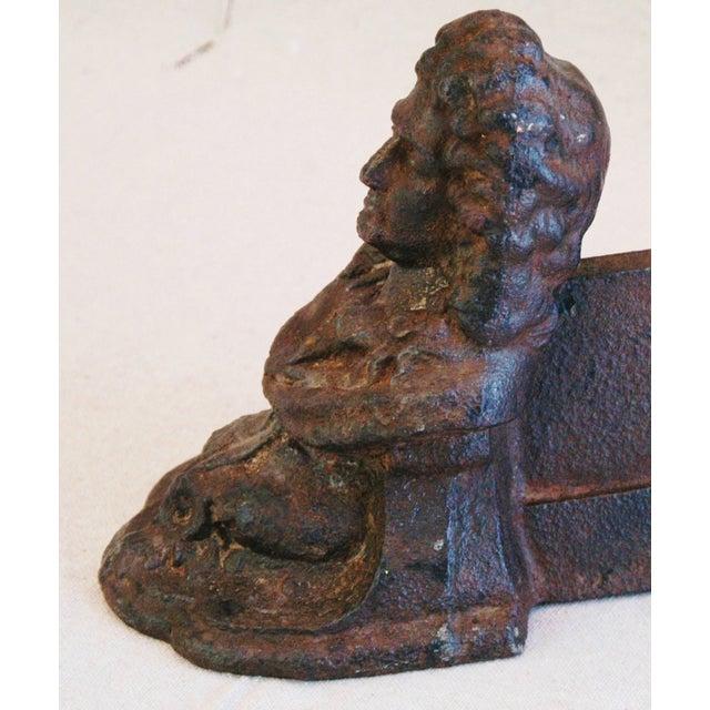 Antique Cast Iron English Boot Scraper Doorstop - Image 5 of 7