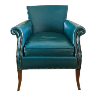 1940's Blue Chair With Nail Heads