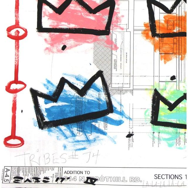 "Jean Michel Basquiat ""Rainbow Royalty"" Original Artwork by Gary John For Sale - Image 4 of 6"