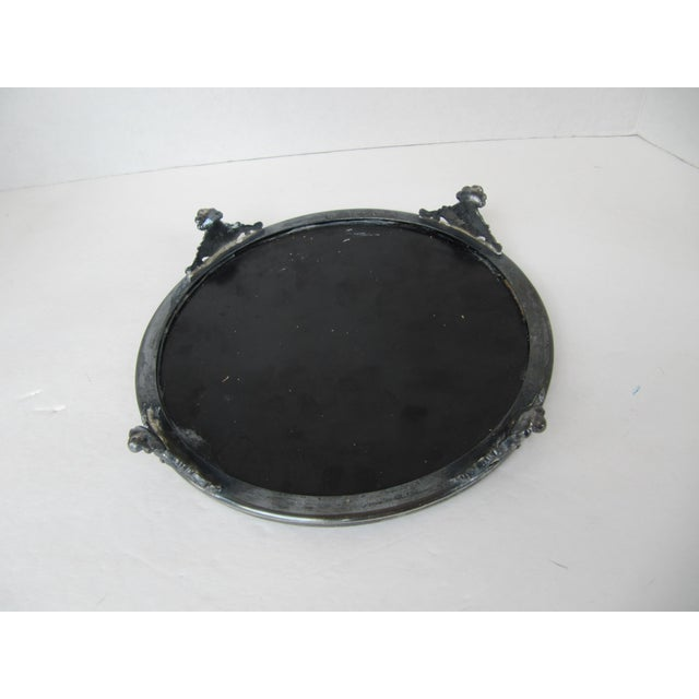 Vintage Silver-Plate and Mirror Tray For Sale - Image 6 of 7