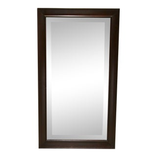 Pottery Barn Dark Wood Wall Mirror For Sale