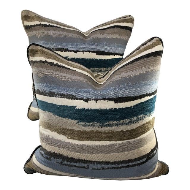 """19"""" Robert Allen Abstract Pillows - a Pair For Sale"""