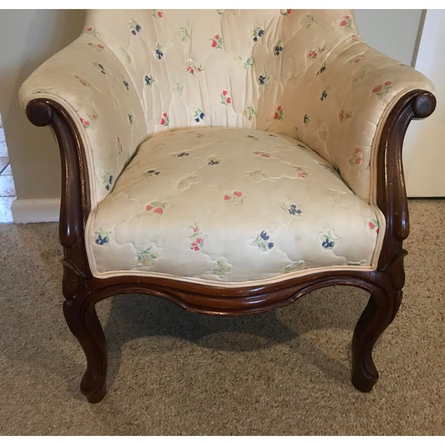 Victorian Slipper Chair and Ottoman For Sale In New York - Image 6 of 13