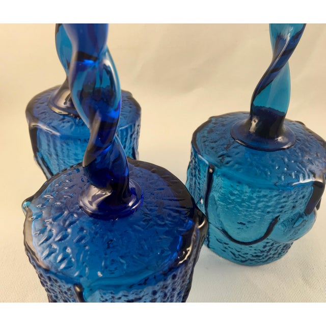 Vintage Stelvia Early 1960s Antiqua Candle Holders Designed by Blenko's Wayne Husted - Set of 3 For Sale - Image 9 of 11