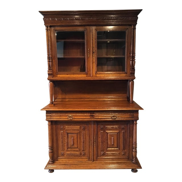 Antique French Carved Cabinet For Sale