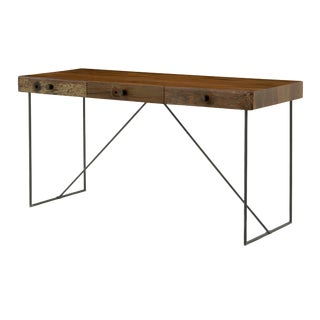 Beautiful Wood + Metal Minimalist Desk For Sale