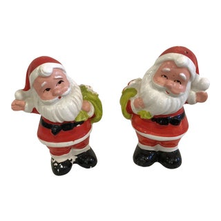 Vintage Santa Salt & Pepper Shakers - a Pair