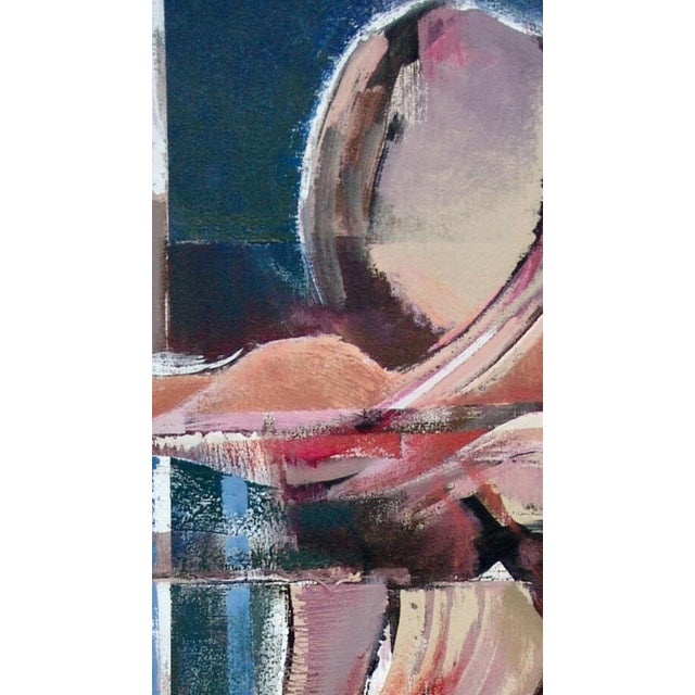 """Abstract Stanley T. Harris """"Seated Woman"""" Acrylic on Canvas Painting For Sale - Image 3 of 4"""
