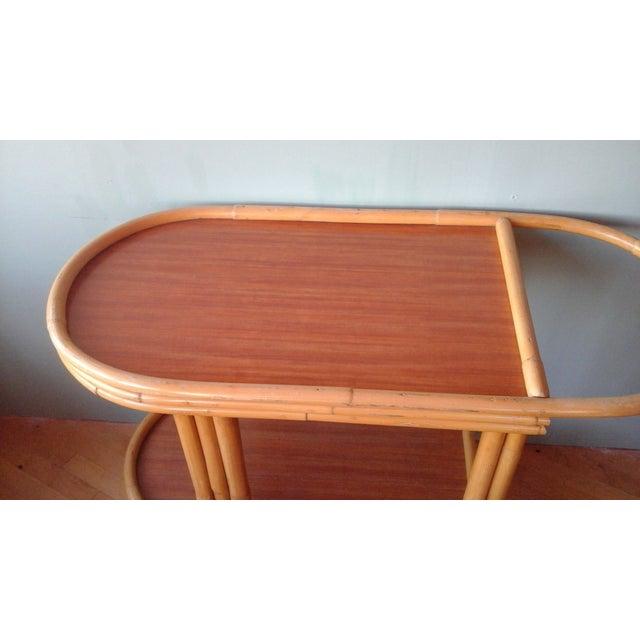 Vintage Ritts Tropitan Tiki Rattan Bamboo Bar Cart - Image 4 of 10