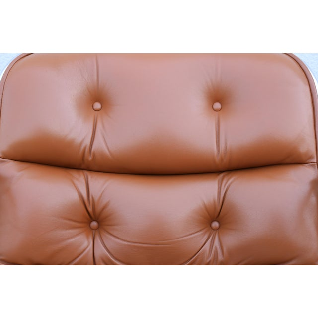 Brown Leather Knoll Pollock Executive Chair For Sale - Image 10 of 13