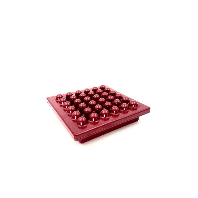 1971 Wine Red Ashtray by Ettore Sottsass for Olivetti Synthesis, Sistema 45 Series For Sale - Image 13 of 13