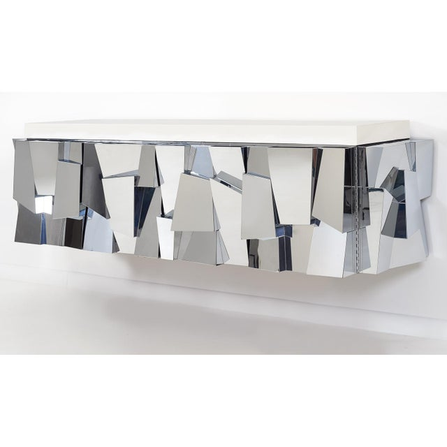 Paul Evans Cityscape ii Faceted Console, model PE370, 1973 For Sale - Image 5 of 8