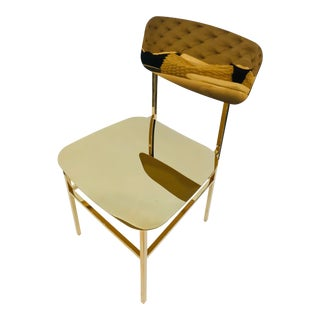 Interlude Home Brass Chair For Sale