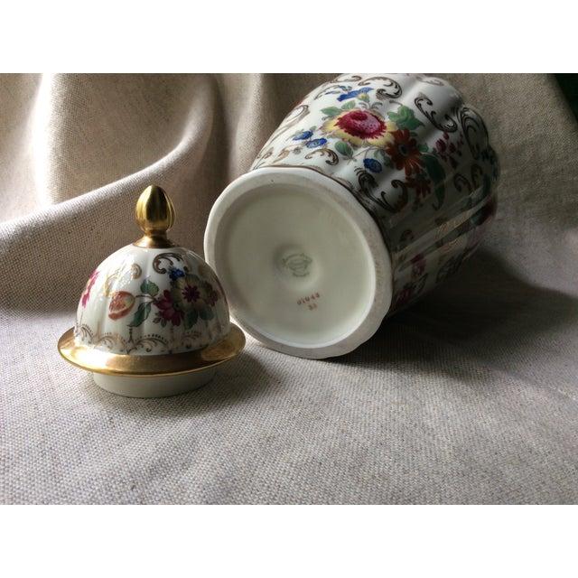 French Antique Austrian Porcelain Temple Jar For Sale - Image 3 of 13