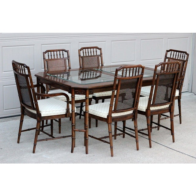 Century Furniture Faux Bamboo Dining Set For Sale - Image 13 of 13
