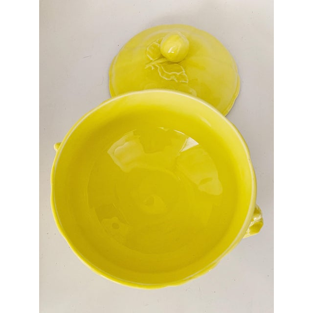 French Vintage Ca. 1950s Luneville Tradition France Louis XV Yellow Tureen For Sale - Image 3 of 10