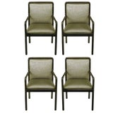 Image of Four Martin Brattrud Ebonized and Upholstered Armchairs For Sale